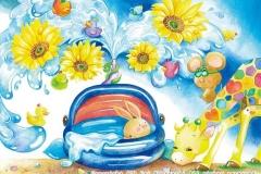 """夏がやってきた!<br/><span class=""""gallery_description"""">制作:2013<br/>夏はお庭でプール遊びだ!まーぶー、楽しいのは分かるけど飛び込みは危ないよ!うーぶーもビックリ!!!</span>"""