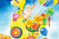 """Let's go<br/><span class=""""gallery_description"""">制作:2013<br/>夏の大空にレッツゴー!!大好きなキリンのおもちゃに風船をたくさんつけたら冒険の始まりだよ!</span>"""