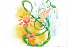 """雨のちハレルヤ<br/><span class=""""gallery_description"""">制作:2013<br/>イヤな事があっても大丈夫!!もうすぐきっとワクワク楽しい事がまっているよ。雨のちハレルヤ</span>"""