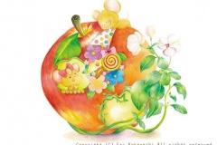 """きみにあいたくて<br/><span class=""""gallery_description"""">制作:2013<br/>かわいいリンゴのおうちのキミに逢いたくて。。。受けとってくれるかな?</span>"""